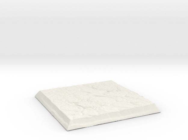 Square Stone Base in White Natural Versatile Plastic