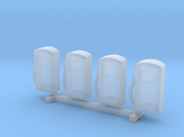 N Scale '60s Gas Pumps 4pc