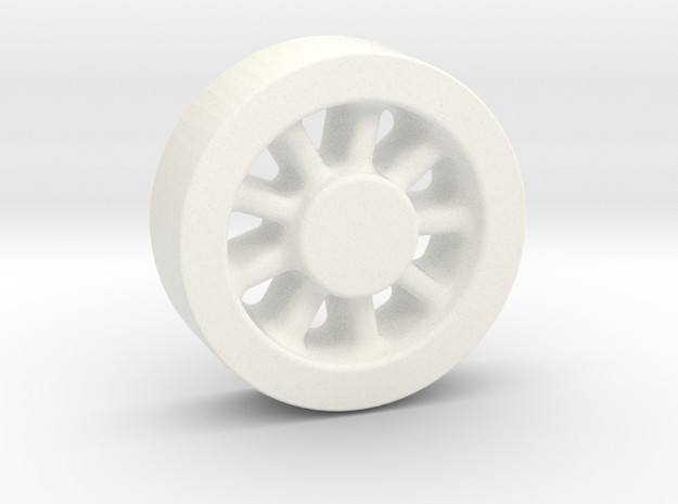 Wheel Casting Pattern, Climax A 1:20.3 Scale in White Processed Versatile Plastic