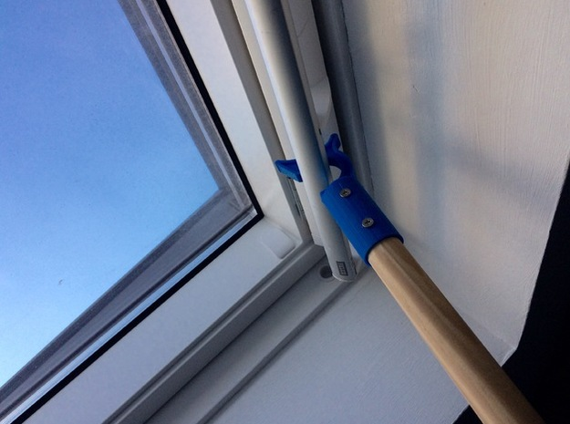 Ergonomic Velux hook roof window rooflight in Red Strong & Flexible Polished