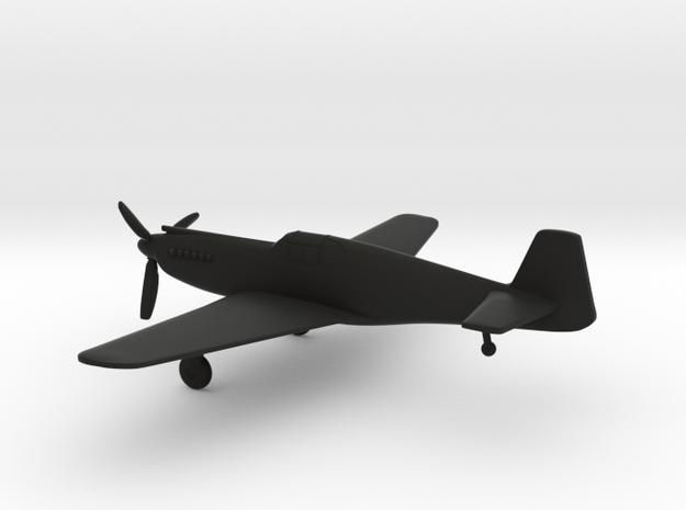North American P-51A Mustang I in Black Natural Versatile Plastic: 1:144