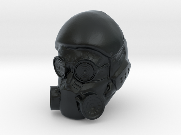 1/18 Scale Masked Head 03 in Black Hi-Def Acrylate