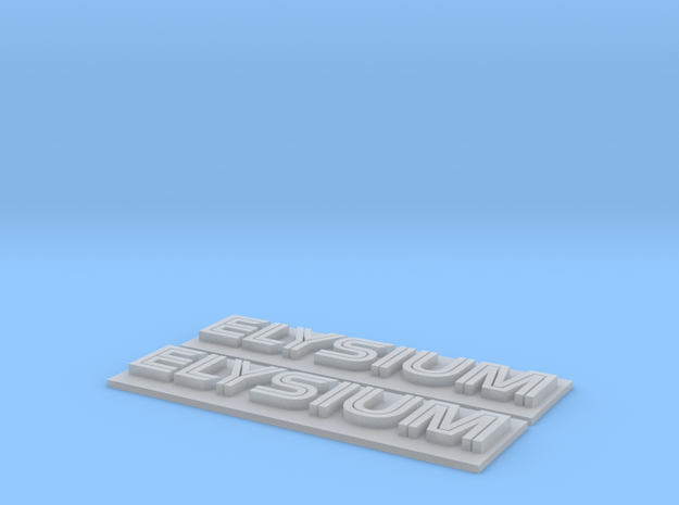 Elysium Nameplate Modded Assembly in Smoothest Fine Detail Plastic