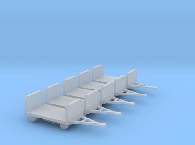 GSE Baggage Cart 1:200 5pc in Smooth Fine Detail Plastic