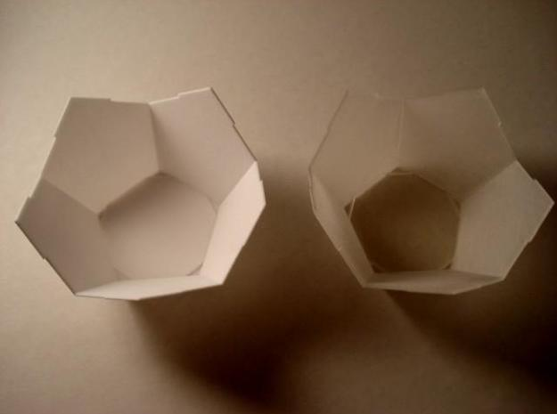 Half DodBox - Small 3d printed In White Strong and Flexible and Transparent Detail