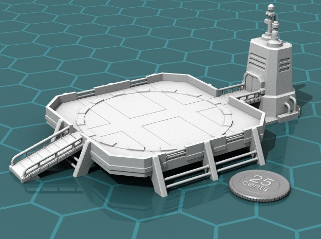 Landing Pad in White Strong & Flexible