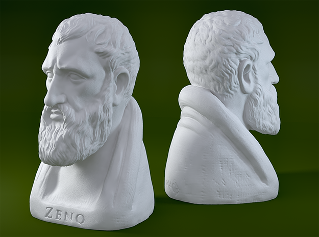 Zeno of Citium 12 inches in White Strong & Flexible