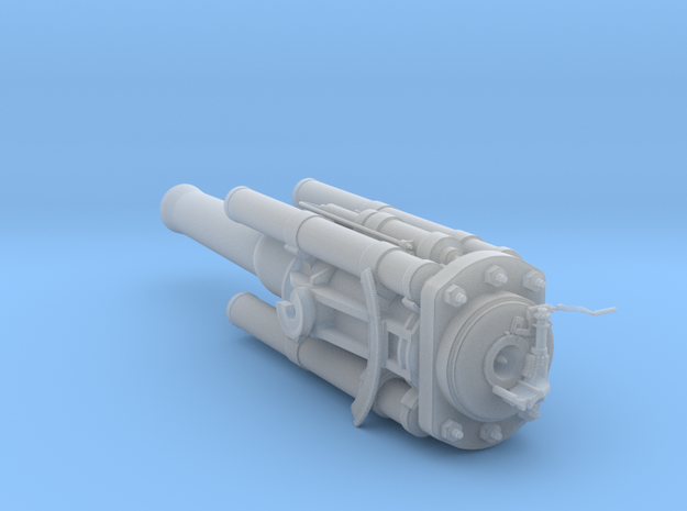 US 16in Model E Railway cannon - barrel assy 1/72 in Smooth Fine Detail Plastic