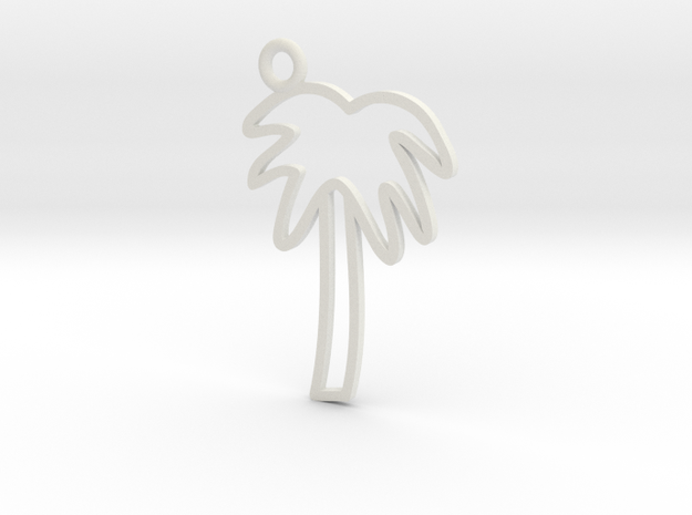 Palm Tree Charm! in White Strong & Flexible