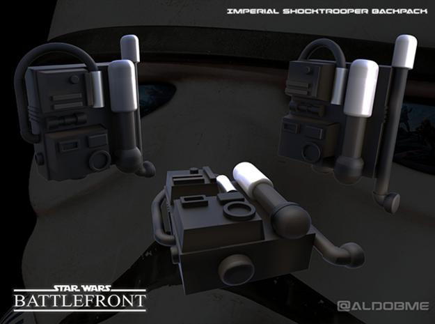 Star Wars Battlefront Backpack Shocktrooper in Black Strong & Flexible