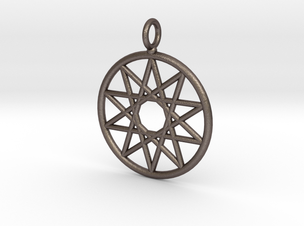 Simple decagram necklace in Stainless Steel