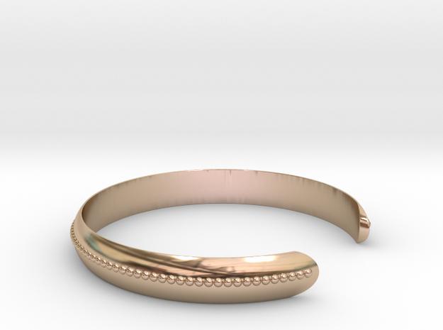 Bracelet QT Medium in 14k Rose Gold Plated Brass