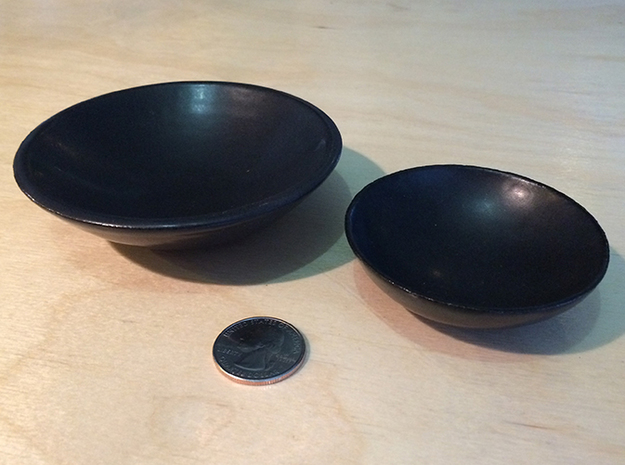 "BlakOpal Pinch Bowl - 3 in. 3d printed Shown with matching 4"" dipping bowl"