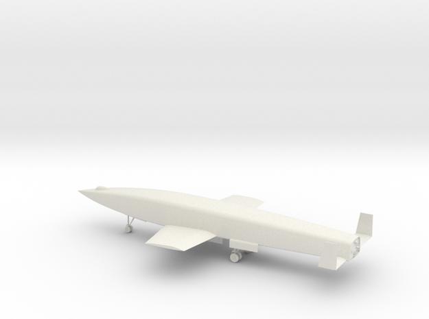 1:100 Silbervogel in White Natural Versatile Plastic