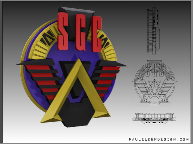 SGC Logo Full Colour 3d printed