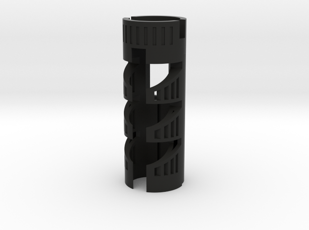 """NBv3/4 Chassis for most SF hilts - 1.11"""" OD--18650 in Black Natural Versatile Plastic"""