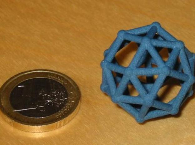 Snub cube (chiral) 3d printed Snub cube and 1 euro coin