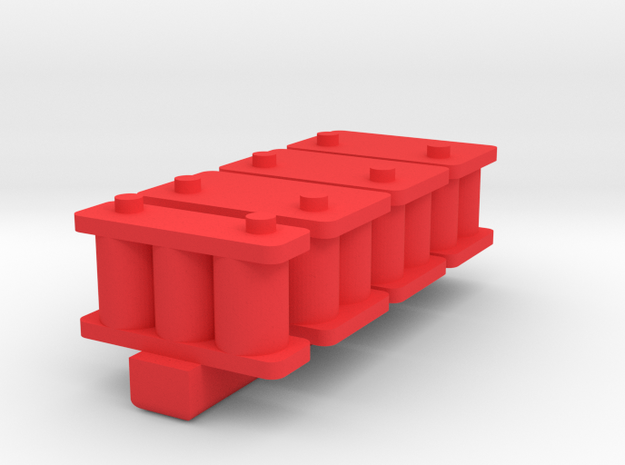 1/24 Scale Battery Pack in Red Processed Versatile Plastic
