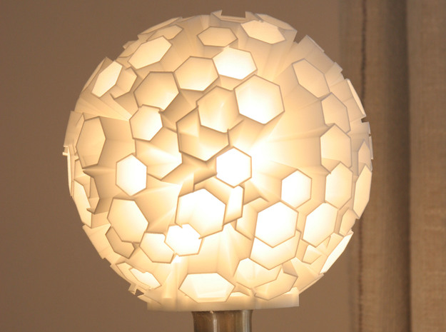 Causeway Lampshade in White Strong & Flexible