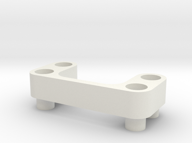 AE B6 Wing Mount Spacer 5.75mm in White Natural Versatile Plastic