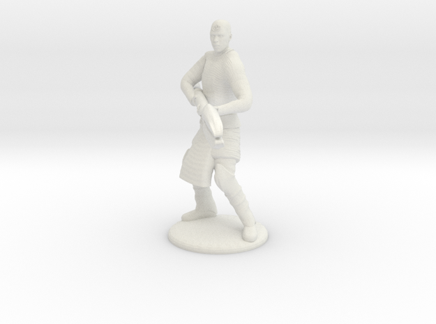Jaffa Attack Pose - 20mm in White Strong & Flexible