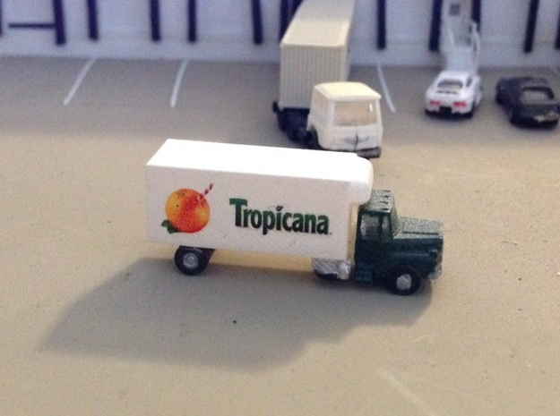 Mack Refrigerator Truck - Z scale  in Smooth Fine Detail Plastic