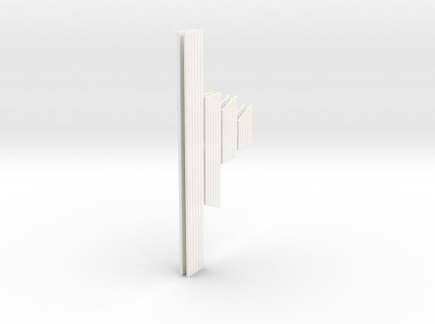 1:10 XJ Cherokee Laredo Moldings in White Processed Versatile Plastic