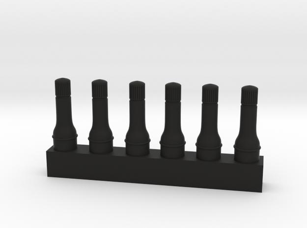 1/8 Wheel Valve x 6 in Black Strong & Flexible