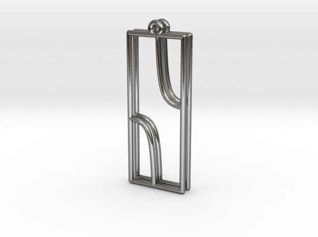 Cosecant Function Earrings in Polished Silver