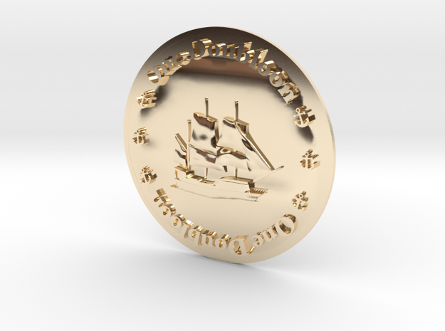 Doubloon in 14K Gold