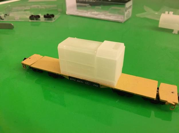 Flatcar Load - Oil Drawworks - Nscale in Frosted Ultra Detail