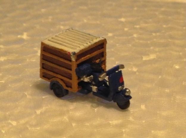 N Scale Piaggio Ape w/ Closed Trunk in Smooth Fine Detail Plastic