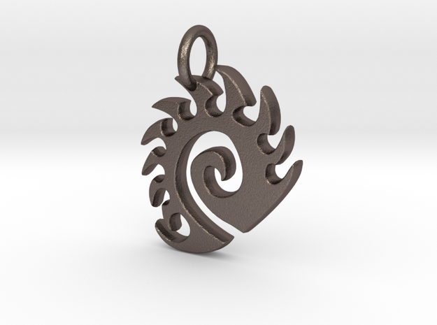 Zerg Charm in Stainless Steel