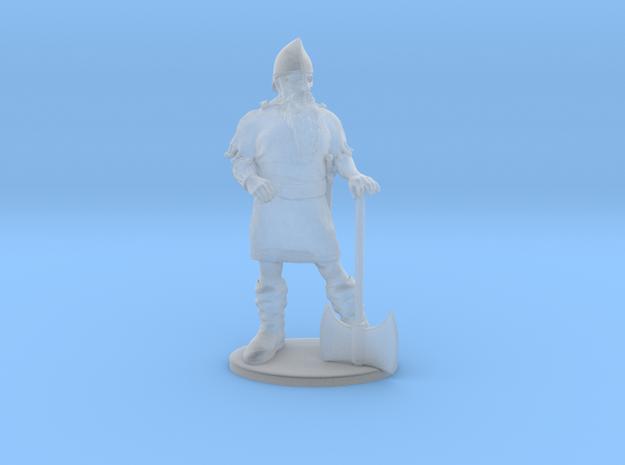 Dwarf Fighter Miniature in Smoothest Fine Detail Plastic: 1:60.96