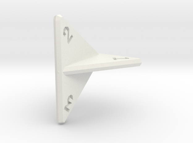 Planar d4 in White Strong & Flexible