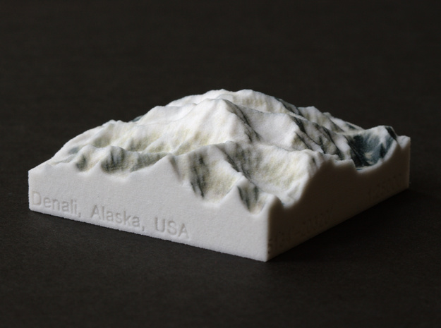 Denali, Alaska, USA, 1:250000 Explorer in Full Color Sandstone
