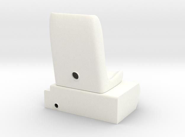 1.8 MD500 SIEGE GAUCHE in White Processed Versatile Plastic