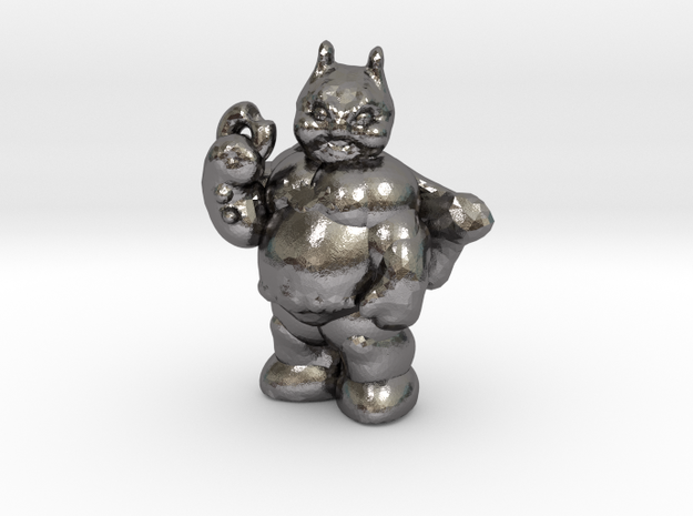 Fatman With Donut in Polished Nickel Steel