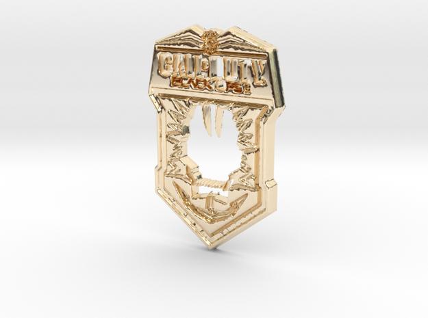 Black Ops II logo in 14k Gold Plated Brass