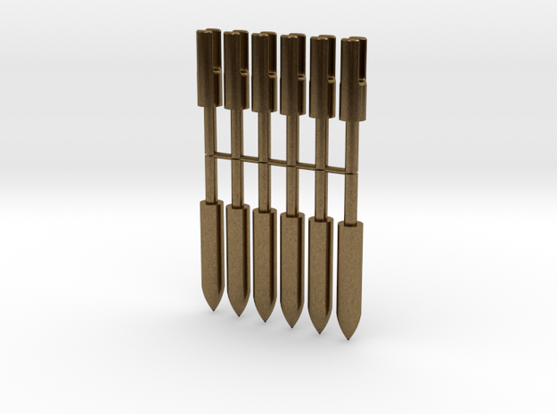 1:3 Scale Bronze Target Points And Nocks in Natural Bronze