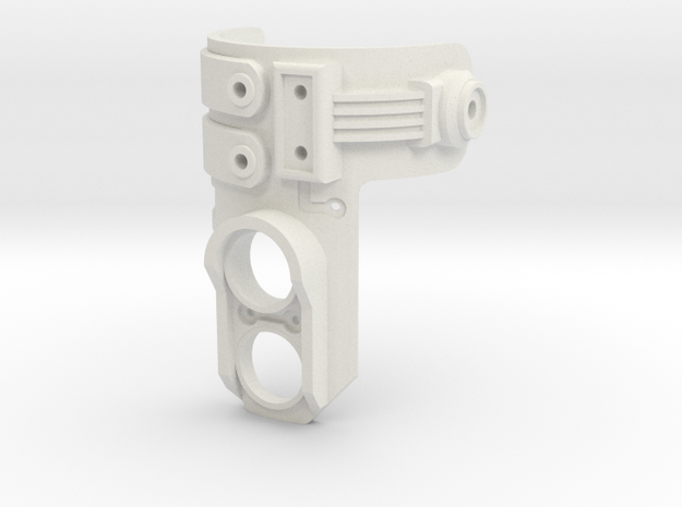 Lightsaber Switch Mount - Bellicose in White Natural Versatile Plastic