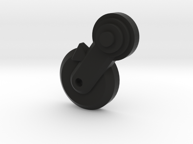 Thumbpin: Round base, Left-side - Tavor Safety in Black Natural Versatile Plastic