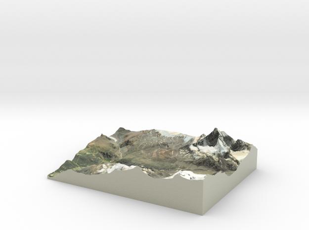 """Matterhorn / Monte Cervino Map: 8.5""""x11' (21.5x27."""