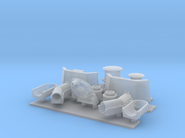 1/96 scale Burke - Bow Parts details