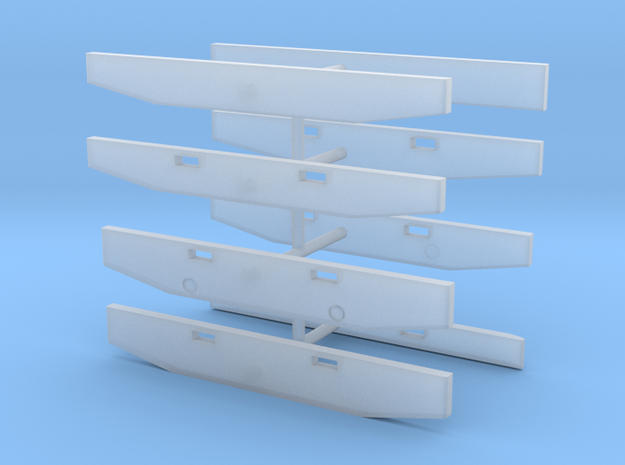 1/64th Semi Truck Bumpers, set of 8 in Smooth Fine Detail Plastic