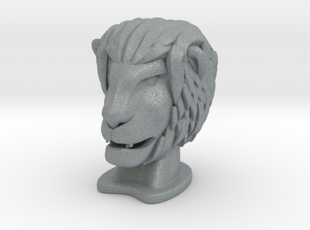 Lion in Polished Metallic Plastic