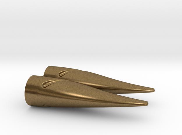 1:3 Scale Bronze Bow Nocks in Raw Bronze