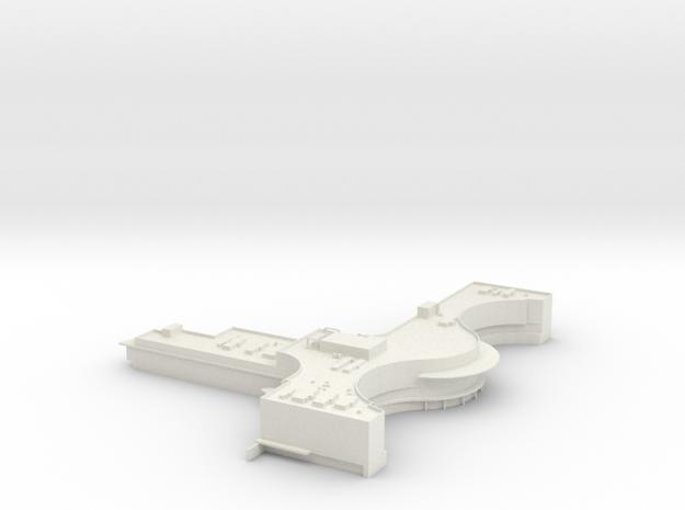 Boeing Everett Delivery Center in White Natural Versatile Plastic: 1:400