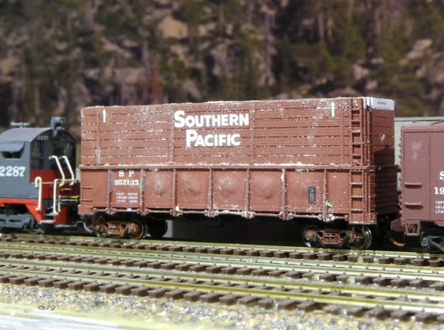 SP Pulp Gondola Extension N Scale in Smooth Fine Detail Plastic