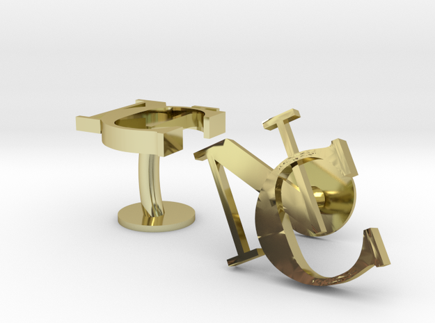 NC Cufflinks in 18k Gold Plated